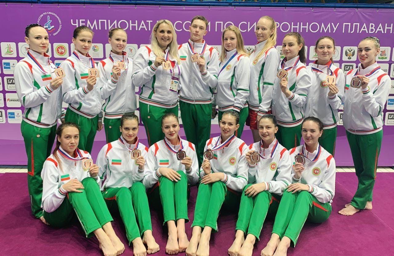 Челнинцы завоевали бронзу на чемпионате России по синхронному плаванию