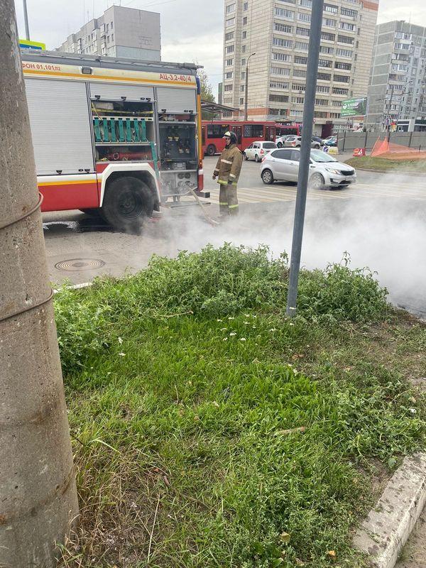 В Татарстане на ходу сгорела пассажирская «Газель»