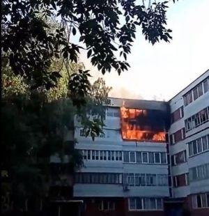 Во время страшного пожара в Набережных Челнах погиб мужчина
