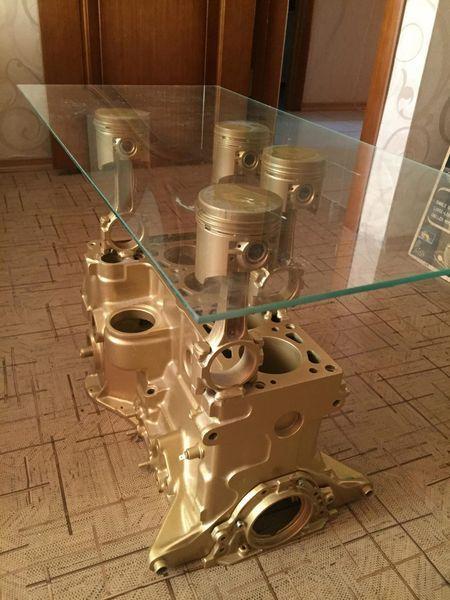Брутальный автохлам: умелец из Набережных Челнов создает мебель из автозапчастей