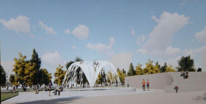 На бульваре Юных Ленинцев в Челнах скоро откроют фонтан