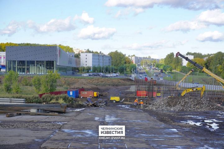 В Челнах перекроют проезд на время строительства моста на улице Гостева